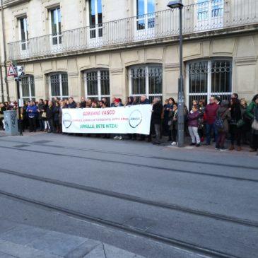 Eusko Legebiltzarrean kontzentrazioa 2018/11/22